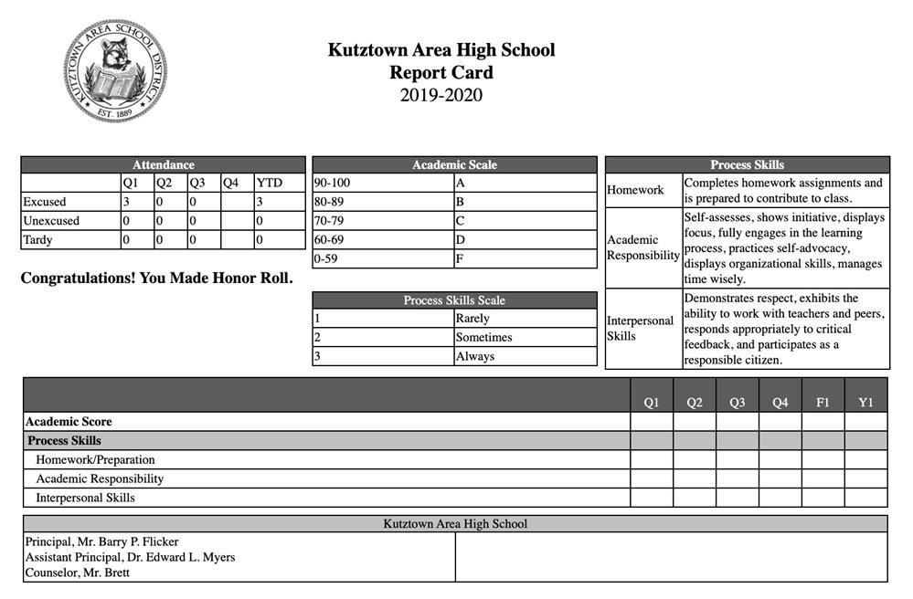Middle & High School Q3 Report Cards